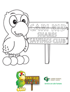 Savings Account Cari Kid Coloring sheets 1